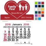Heart Shaped Self-Adhesive Calendar