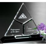 Exclusive Trifecta Triangle Crystal Award