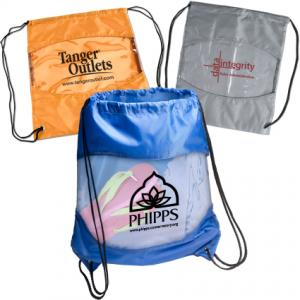 Drawstring Bag with Clear View Window