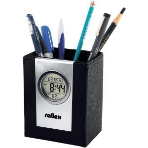 Leather Pen Box with Alarm Clock