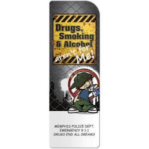 Avoid Drugs, Smoking and Alcohol Bookmark for Children