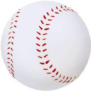 Company Logo Baseball-Themed Rubber Bouncy Ball