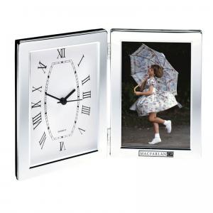 Sleek Photo Frame & Clock Combo