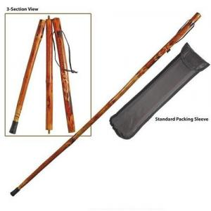 "3-Section 55"" Wooden Hiking Stick"