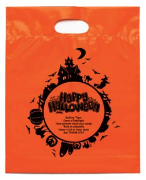 Orange Happy Halloween Candy Bag
