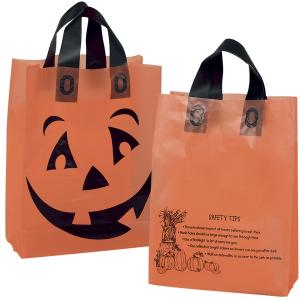Pumpkin Face Halloween Trick or Treat Bag
