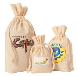 "4"" x 7"" Natural Cotton Drawstring Giveaways Bag"