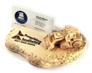 Rock Design w/ Tractor Paperweight/Award