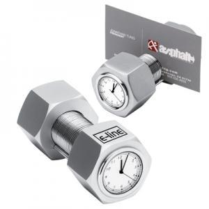 Metal Nut & Bolt Clock/Card Holder