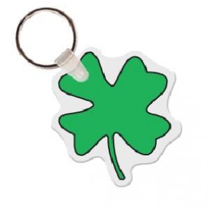 Four Leaf Clover Soft Vinyl Key Tag
