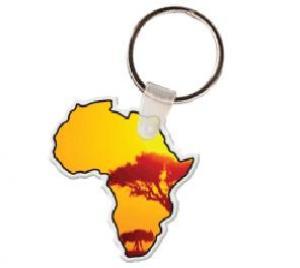 Africa Soft Vinyl Key Tag