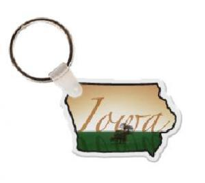 Iowa Soft Vinyl Key Tag