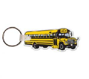 School Bus Soft Vinyl Key Tag