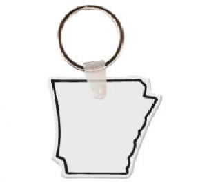 Arkansas Soft Vinyl Key Tag