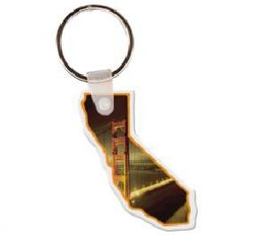 California Soft Vinyl Key Tag