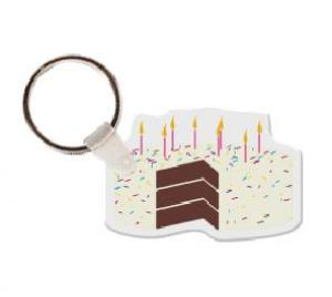 Birthday Cake Soft Vinyl Key Tag