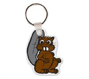 Beaver Vinyl Key Tag
