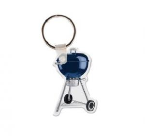 Charcoal Grill Vinyl Keychain