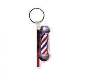 Barber Pol Vinyl Keychain