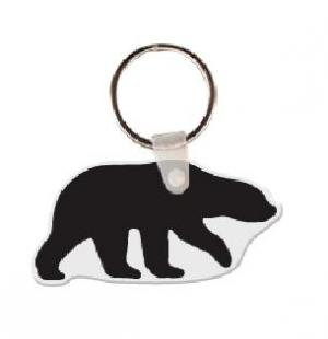 Bear Soft Vinyl Key Tag