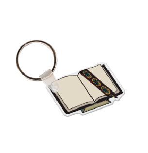 Open Bible Soft Vinyl Keychain