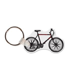 Bicycle Side View  Soft Vinyl Keychain