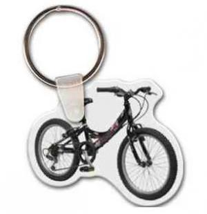 Female Bicycle Soft Vinyl Keychain