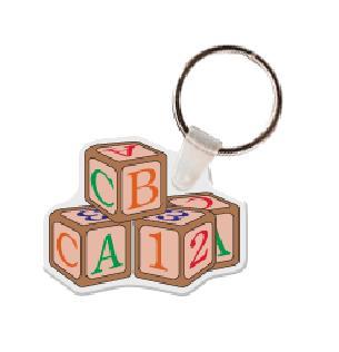 ABC Blocks Vinyl Keychain