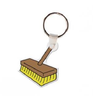 Broom Vinyl Key Tag