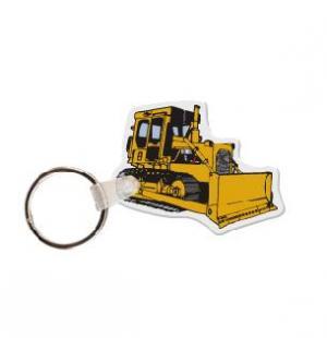 Bulldozer Vinyl Key Tag