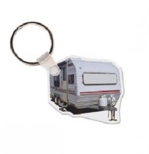 Camper  Vinyl Key Tag