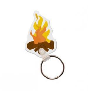 Camp Fire  Vinyl Key Tag