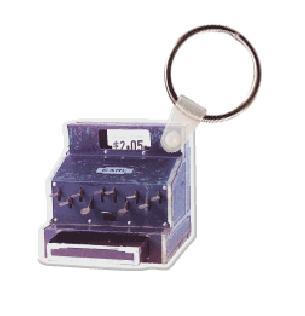 Old Fashioned Cash Register Soft Vinyl Keychain