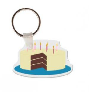 Birthday Cake without Sprinkles Soft Vinyl Keychain