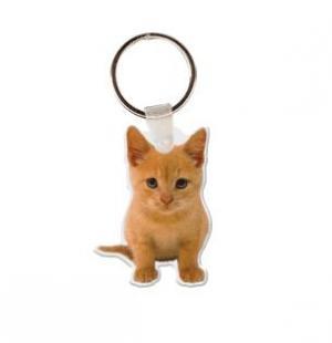Kitten Vinyl Key tag