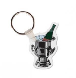 Champagne Bucket Vinyl Key Tag