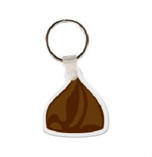 Chocolate Chip Soft Vinyl Key Tag