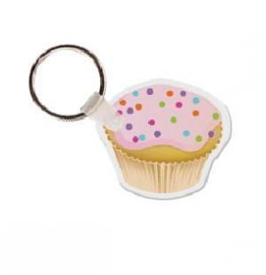 Cupcake Vinyl Key Tag