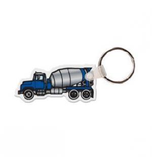 Cement Truck Vinyl Key Tag