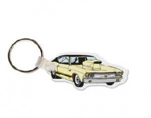 Muscle Car Vinyl Key Tag