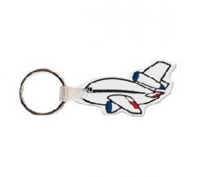 Chubby Airplane Soft Vinyl Key Tag