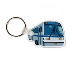 Charter Bus Soft Vinyl Key Tag