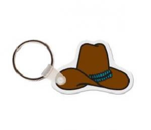 Cowboy Hat Soft Vinyl Key Tag