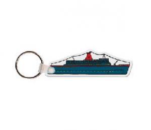 Cruise Ship Soft Vinyl Key Tag