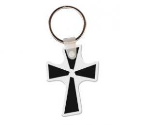 Cross Soft Vinyl Key Tag