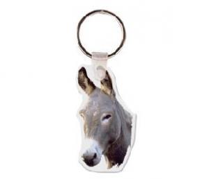 Donkey Head Soft Vinyl Keychain
