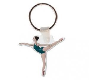 Ballerina Soft Vinyl Key Tag