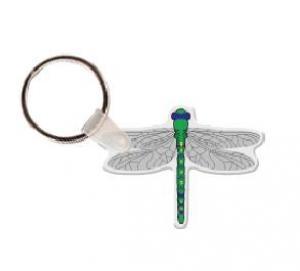 Dragonfly Vinyl Key Tag