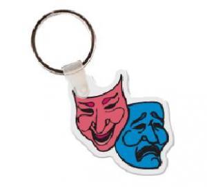 Comedy/Drama Mask Vinyl Key Tag