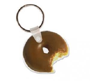Donut with Bite Soft Vinyl Keychain